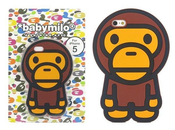 潮流當紅品牌:全城獨家 baby milo Bape iphone5S/5 3D保護套-6430076