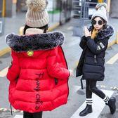 女童棉衣新品兒童冬裝中長版手工棉服小孩棉襖修身外套潮 新年鉅惠