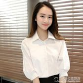 寬松工作服襯衫新款職業短袖正裝夏季白色女襯衣中袖上衣韓范 概念3C旗艦店