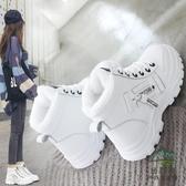 雪地短靴女百搭棉鞋加絨保暖冬鞋冬季馬丁靴子【步行者戶外生活館】