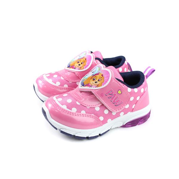 PAW PATROL 休閒運動鞋 電燈鞋 粉紅色 魔鬼氈 中童 童鞋 D93014-160 no023