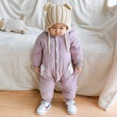 周歲服  嬰兒冬裝 1周歲寶寶新生嬰兒兒衣服冬天加棉爬服加厚棉衣外出抱衣 珍妮寶貝
