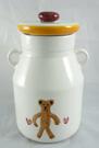 【震撼精品百貨】日本泰迪熊 ~ 玻璃調味罐『白-熊&蝴蝶』