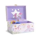 [2美國直購] Jewelkeeper 珠寶盒展示盒 Girl's Musical Jewelry Storage Box with Spinning Unicorn, Glitter Rainbow