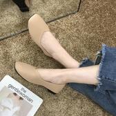 豆豆鞋女新款春夏百搭女單鞋平底網紅淺口黑色上班工作鞋女【快速出貨八折下殺】