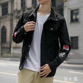 牛仔外套早秋男士牛仔外套韓版潮流修身學生帥氣夾克男裝牛仔衣秋季  PA8580『男人範』