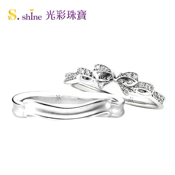 【光彩珠寶】婚戒 日本鉑金結婚戒指 男戒 緣定今生