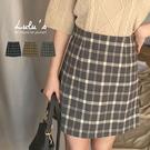 LULUS-Y大方格毛呢短裙-3色 【05190117】