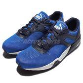 【六折特賣】Puma 復古慢跑鞋 R698 Eng. Mesh Block 藍 黑 白 潑墨底 運動休閒 男鞋 【PUMP306】 36192503