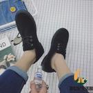 真皮工裝鞋英倫男士反絨皮低幫馬丁靴男休閒皮鞋【創世紀生活館】