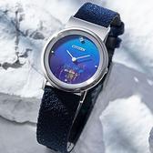 【台南 時代鐘錶 CITIZEN】星辰 L系列 限量 環保 EG7090-17L 藍寶石鏡面 鈦金屬 光動能女錶 藍 31mm