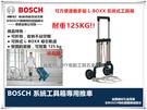 【台北益昌】最大承重125Kg 德國 BOSCH L-BOXX 系統式工具箱專用兩輪推車