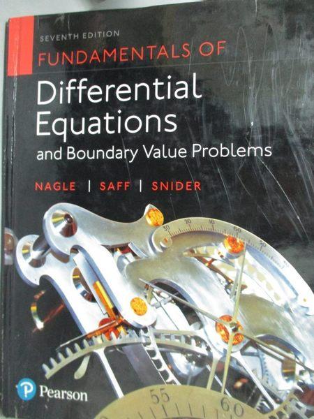 【書寶二手書T6/大學理工醫_XAE】Fundamentals of Differential Equations an