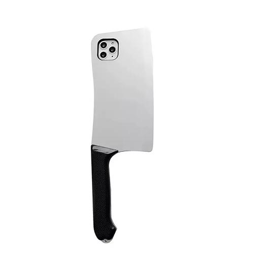 蘋果iphone菜刀造型手機殼i7/8/XS/XSmax/11pro/11pro max 創意惡搞趣味手機保護套
