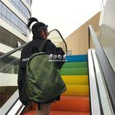 復古ins街拍日韓版潮搭男女情侶字母書包尼龍防水校園雙肩包『伊莎公主』
