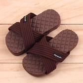 男女童 MIT交叉織帶防水止滑 室外拖鞋 海灘拖鞋 防水拖鞋 親子鞋 咖啡色 59鞋廊