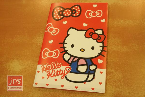 Hello Kitty 凱蒂貓 25K方便萬用包筆記本 橫線 收納包 紅 958653
