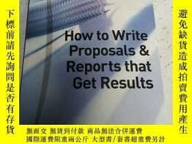 二手書博民逛書店HOW罕見to write proposals & Report