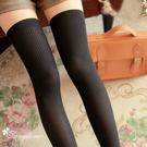 唐朵拉 熱銷日版韓系上平版下條紋修飾美腿...