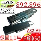 ASUS 電池-華碩 電池- S62,S96,S96J, S96JF,S96JH,S96JP,S96JS,A32-Z98,A32-Z94,90-NI11B2000