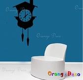 壁貼【橘果設計】時鐘 DIY組合壁貼/牆貼/壁紙/客廳臥室浴室幼稚園室內設計裝潢