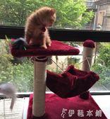 小型貓爬架貓樹劍麻柱磨爪貓窩貓跳台寵物貓咪玩具貓抓板貓架  伊鞋本鋪
