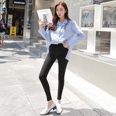 秋新款彈力顯瘦大碼黑色打底褲韓國魔術長褲鉛筆褲女590#ZL6F-603紅粉佳人