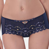 LADY 舞夜巴黎系列 低腰平口褲(舞夜藍)