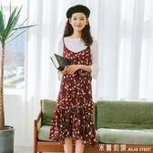 洋裝 碎花吊帶裙女學生韓版2018新款夏裝顯瘦小清新甜美裙子長裙洋裝/連身裙 米蘭街頭