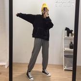 韓版寬鬆休閒哈倫褲女大碼九分束口運動褲百搭直通衛褲 麥琪精品屋
