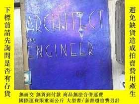 二手書博民逛書店ARCHITECT罕見AND ENGINEER 建築師和工程師 1939 7Y180897