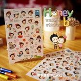 日記貼 可愛蜜蜂女孩裝飾貼(6PS)  【金奇】