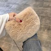 毛毛包包女冬新款潮韓版百搭毛絨素色包少女小挎包鍊條包 降價兩天