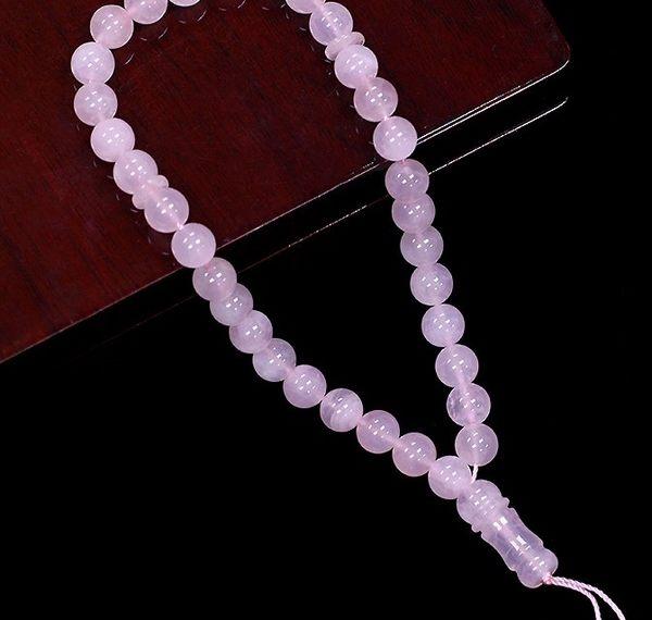 [協貿國際]天然粉水晶33顆念珠單個價