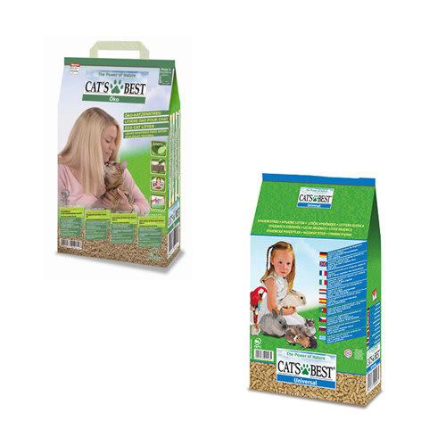 【 ZOO寵物樂園 】德國凱優CATS BEST》木屑砂 藍標粗砂/綠標細砂 10L/包