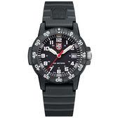 LUMINOX 雷明時SEA TURTLE 0300海龜系列腕錶-黑x白時標/39mm A0301