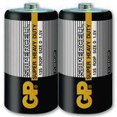 GP 超霸 (黑)超級環保碳鋅電池 1號 2入
