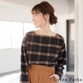 ❖ Winter ❖ 刷毛格紋方領襯衫上衣 - Green Parks
