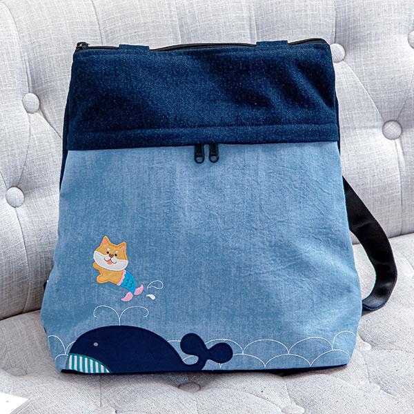 俏皮美人魚后背包側背包