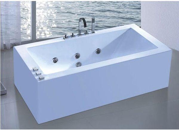 【麗室衛浴】BATHTUB WORLD LS-9056   壓克力獨立式 按摩浴缸 1630*800*600mm