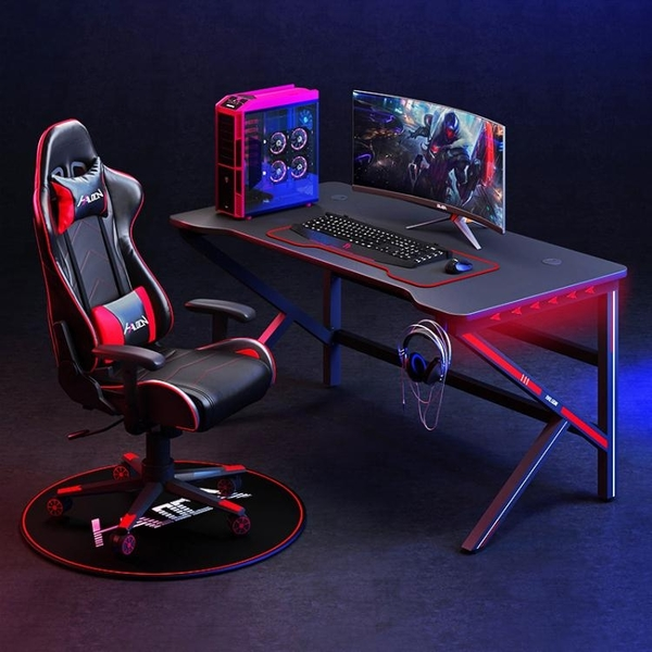電競桌台式電腦桌家用書桌一體游戲電競桌椅組合套裝全套競技桌子 「免運」