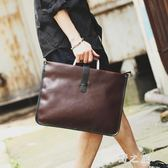 女公事包新款韓版英倫風復古女用公文袋公文包手提單肩文件包電腦包 KB8135【野之旅】