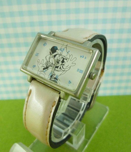 【震撼精品百貨】米奇/米妮_Micky Mouse~造型手錶-米妮哈囉圖案-粉白色