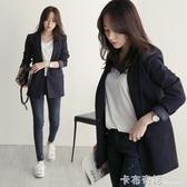 西裝外套女韓版春裝新款修身休閒chic上衣黑色小西服職業裝秋 遇見生活