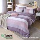 【BEST寢飾】天絲床包兩用被四件式 加大6x6.2尺 時尚韻味-咖 100%頂級天絲 萊賽爾 附正天絲吊牌