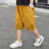 男童短褲 男童夏天短褲新款兒童運動休閒褲薄款寬鬆中大童燈籠褲夏季潮-Ballet朵朵