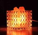 【預購】玫瑰鹽燈創意LED調光卧室床頭小夜燈溫馨檯燈 - BL1212TL1