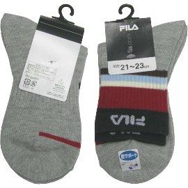【波克貓哈日網】日本進口童襪◇固定腳盤設計◇《21~23cm》FILA灰色~~日本製