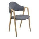 【森可家居】韋德本色灰布餐椅 7JF484-11 北歐風