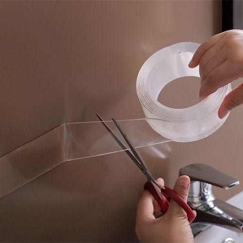 納米雙面膠(5公分寬100公分長) 強力無痕膠 透明防水